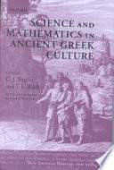 Science and Mathematics in Ancient Greek Culture