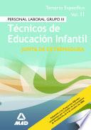 Tecnicos de Educacion Infantil de la Comunidad de Extremadura. Temario Volumen Ii Ebook