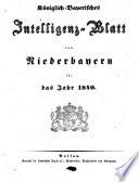 K  niglich Bayerisches Intelligenzblatt von Niederbayern