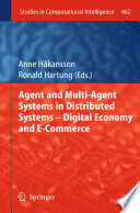 Agent and Multi Agent Systems in Distributed Systems   Digital Economy and E Commerce