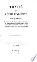 illustration Traité de la poésie italienne