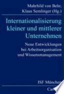 Internationalisierung kleiner und mittlerer Unternehmen