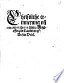 Christliche erinnerung und ermanung Herrn Julij Bischoffen zur Naumburgk An sein Volck
