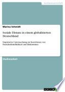 Soziale Distanz in Einem Globalisierten Deutschland