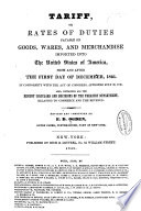 Tariff Or Rates Of Duties Payable On Goods Wares And Merchandise