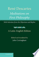 Ren   Descartes  Meditations on First Philosophy