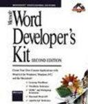 Microsoft Word developer s kit