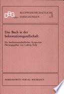 Das Buch in der Informationsgesellschaft