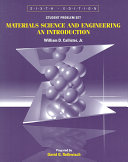 Materials Science and Engineering  Student Problem Set Supplement