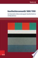 Geschlechtersemantik 1800/1900