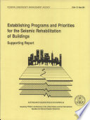 Establishing Programs And Priorities For The Seismic Rehabilitation Of Buildings book