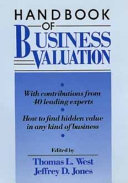 Handbook of Business Valuation