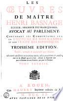 illustration du livre Les oeuvres de maître Henri Basnage