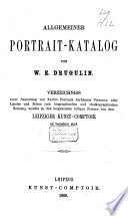Allgemeiner Portrait-Katalog