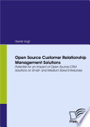 Open Source Customer Relationship Management Solutions