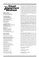 Journal Of Visual Impairment Blindness