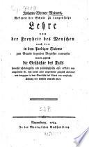 Johann Werner Meiners, Rektors der Schule zu Langensalza Lehre von der Freyheit des Menschen