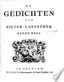 De gedichten van Pieter Langendyk
