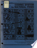 Coding System For Material Items