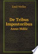 De Tribus Impostoribus