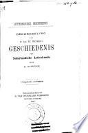 Beoordeling van Dr. Jan te Winkel's Geschiedenis der Nederlandse Letterkunde