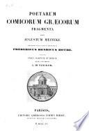 Poetarum comicorum gr  corum fragmenta