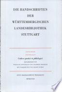 Die Handschriften der Württembergischen Landesbibliothek Stuttgart