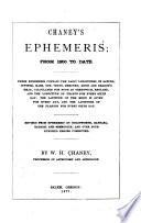 Chaney's Ephemeris