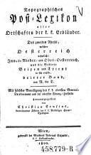 Inner   Nieder  und Ober Oesterreich und die Gebiete Brixen und Trient  dann     Vorder Oesterreich     dritter Band   N   T