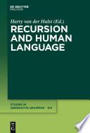 Recursion and Human Language Book PDF