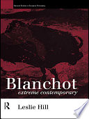 Blanchot Key Figures In The Development