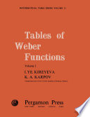 Tables of Weber Functions