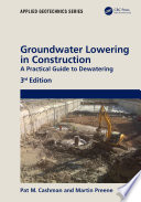 Groundwater Lowering In Construction