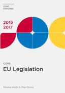 Core EU Legislation 2016-17