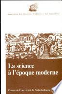 La science    l   poque moderne