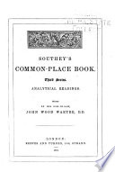 Southey s Common place Book     Analytical readings