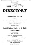 San Jose City Directory Including Santa Clara County