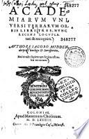 Academiarum universi terrarum orbis libri tres