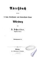 Adreßbuch für die königlich bayrische Kreishaupt- und Universitäts-Stadt Würzburg