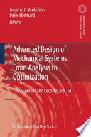 Advanced Design of Mechanical Systems  From Analysis to Optimization