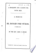 A Memoir of Mr  Richard Ford Sturges of Birmingham   A biography and a lesson for young men