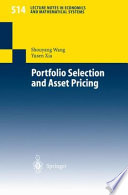 Portfolio Selection And Asset Pricing