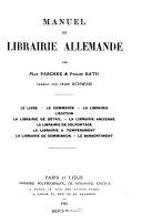 Manuel de librairie allemande