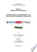 Die Einbringung von Betriebsteilen in ein Joint Venture am Beispiel der Admeira AG