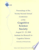 Proceedings of the Twenty-second Annual Conference of the Cognitive Science Society