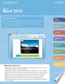 Microsoft Word 2010 CourseNotes