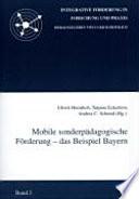 Mobile sonderpädagogische Förderung - das Beispiel Bayern