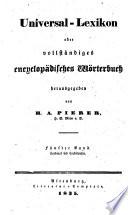 Universal lexikon  oder Vollst  ndiges encyclop  disches w  rterbuch