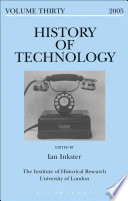 History of Technology Volume 30