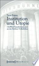 Institution und Utopie